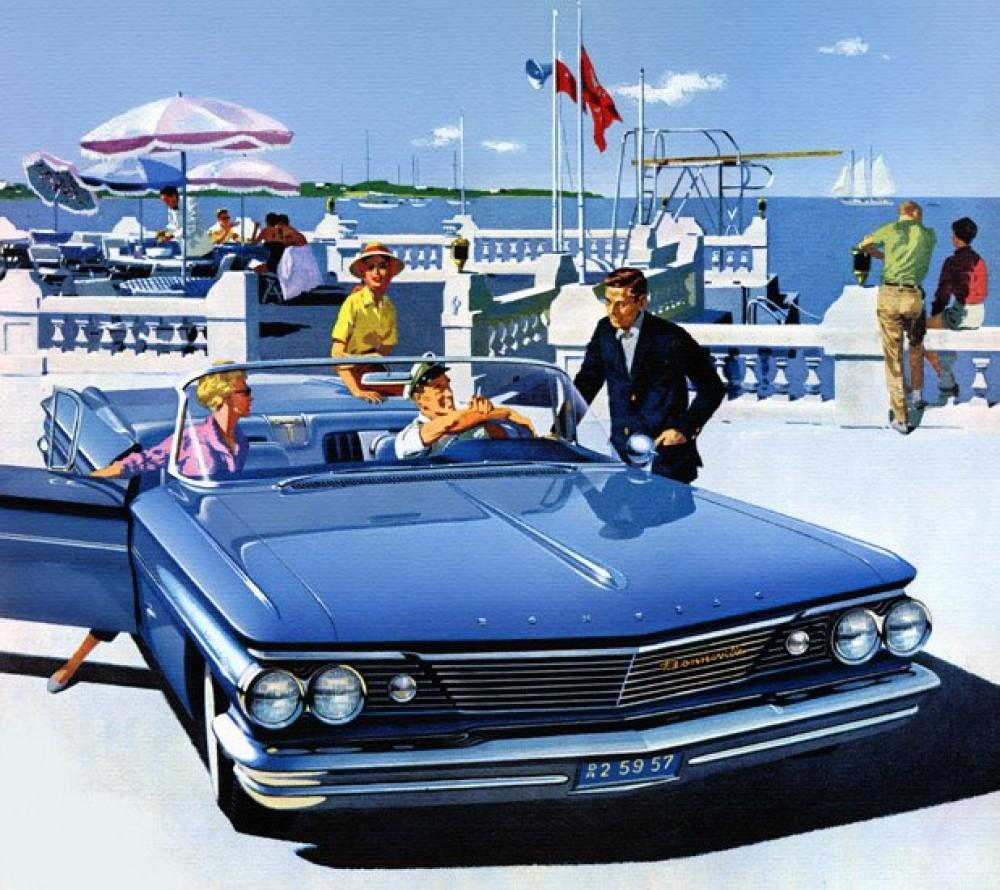 Vintage samochody, Amerykańskie samochody, ilustracje retro, stare samochody