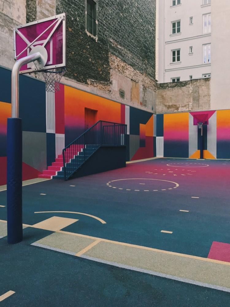 Boisko do kosza, Boisko Paryż, streetball, koszykówka