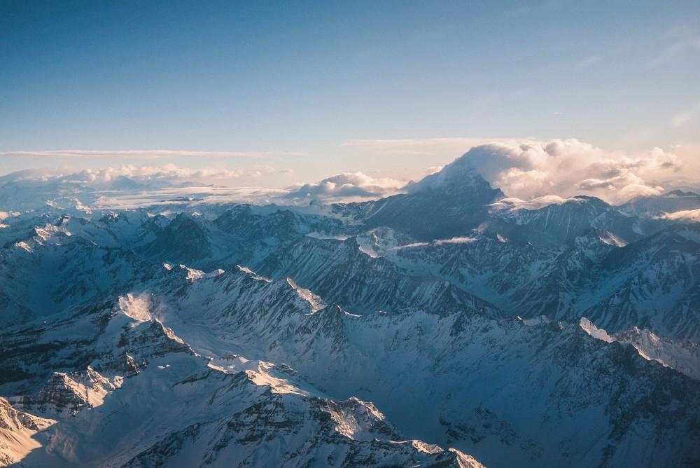 Widok, góry, alpy